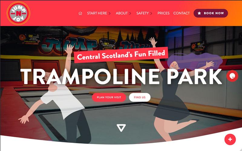 Jump n Joy - trampoline site portfolio